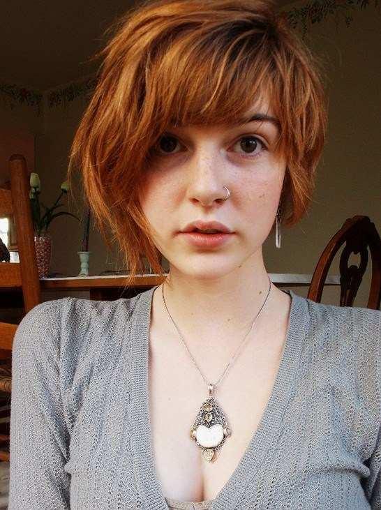 cabelo liso com franja