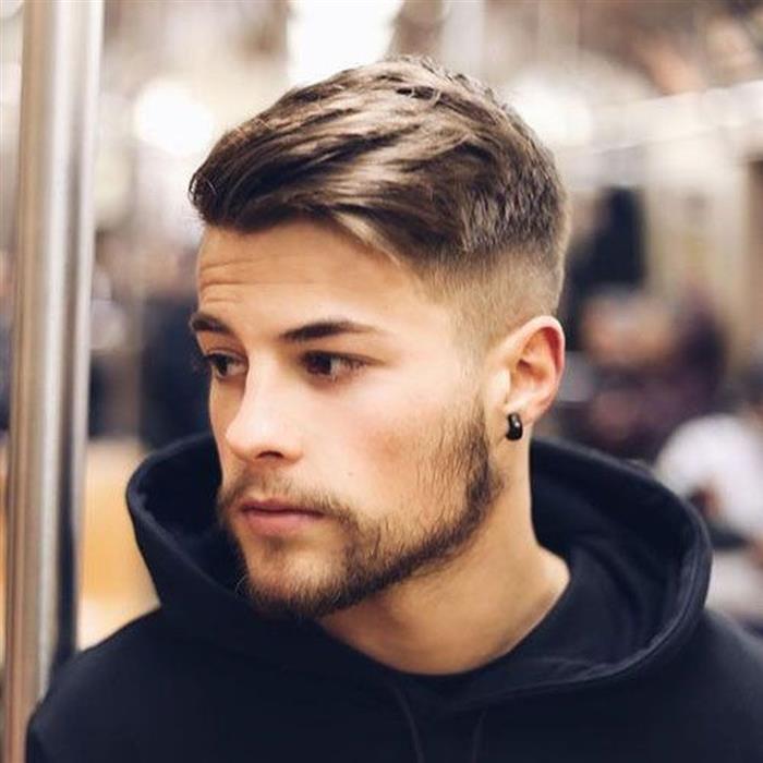 cabelo masculino para rosto oval