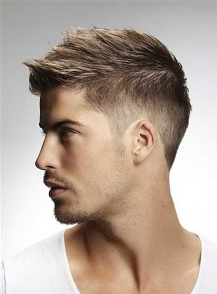 cabelo masculino topete para tras