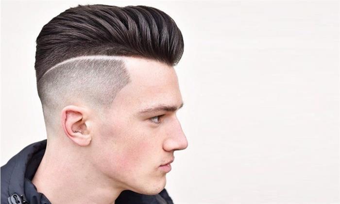 cabelo masculino com risco lateral