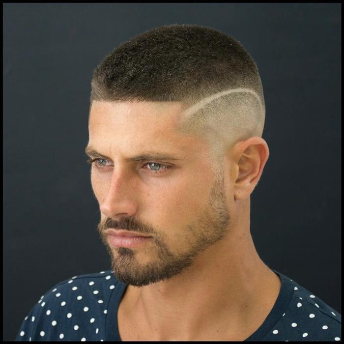 cabelo masculino degrade com risco