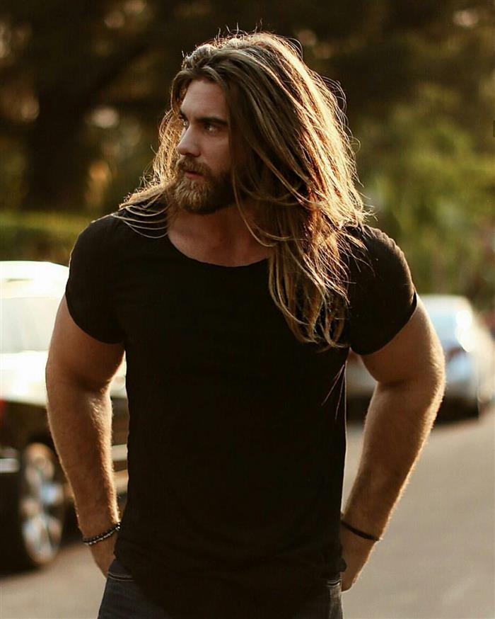 cabelo longo masculino