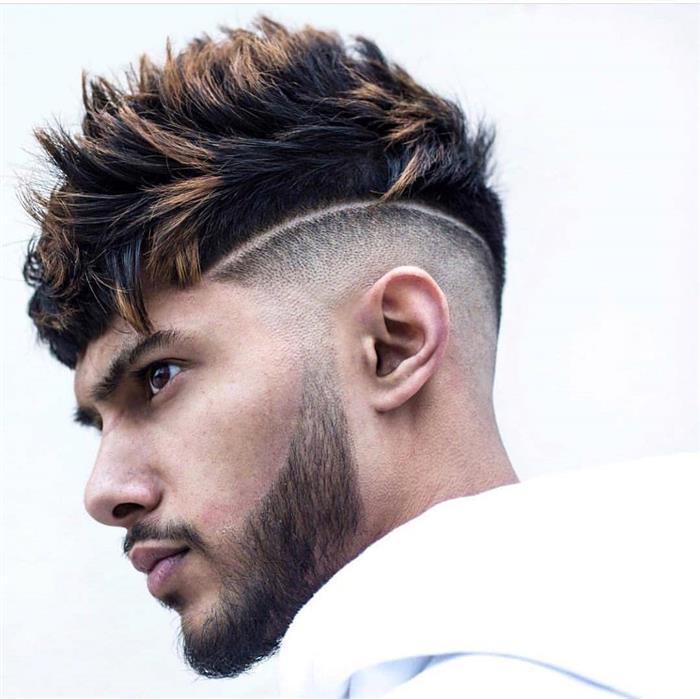 cortes de cabelo masculino com risco do lado