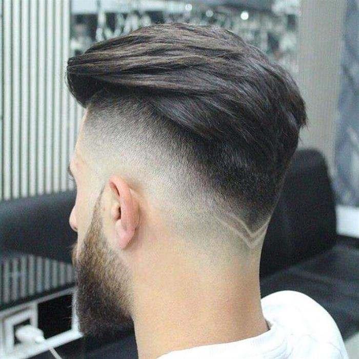 corte de cabelo com v atras