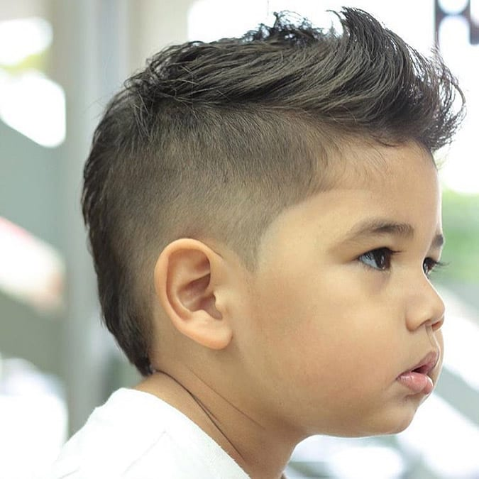 Cortes de cabelo masculino infantil rosto redondo