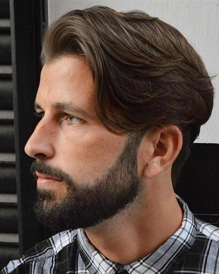 cortes de cabelo masculino com franja grande