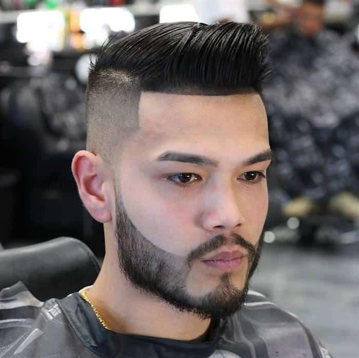 cabelo masculino com barba grande