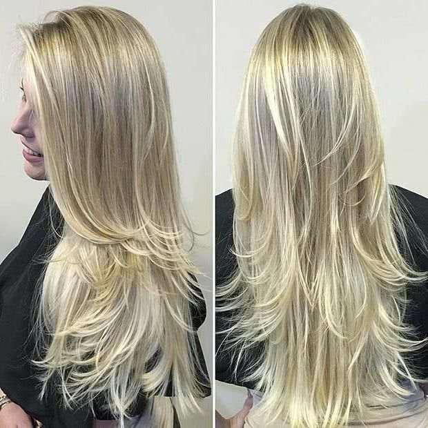 cabelo feminino longo em camadas