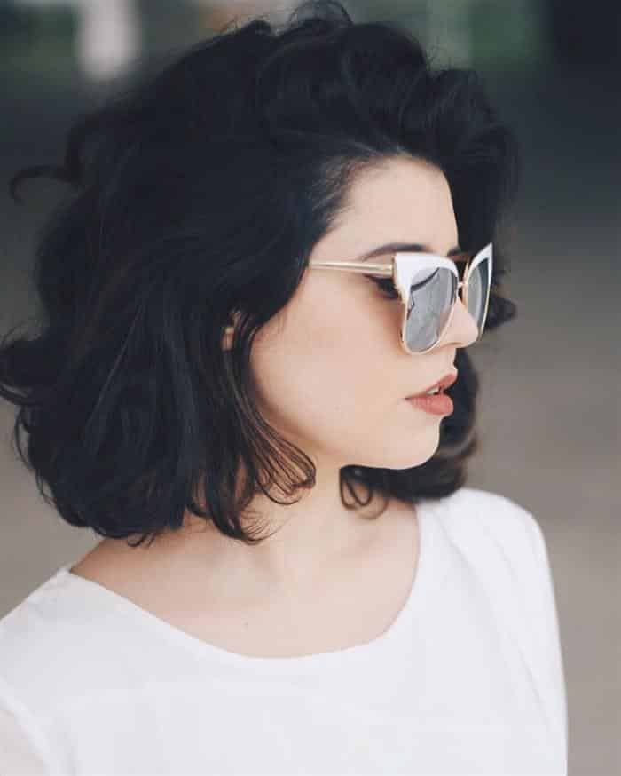 cabelo ondulado preto