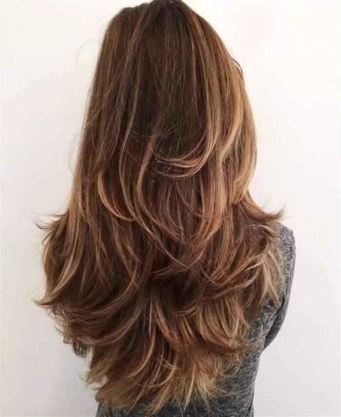 cabelo feminino longo em v