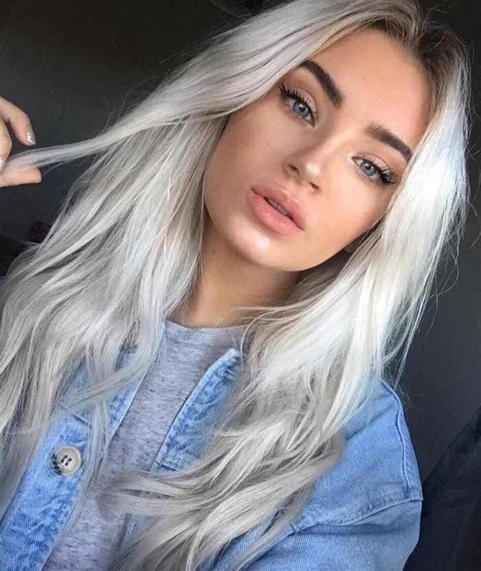 cabelos platinados acinzentados