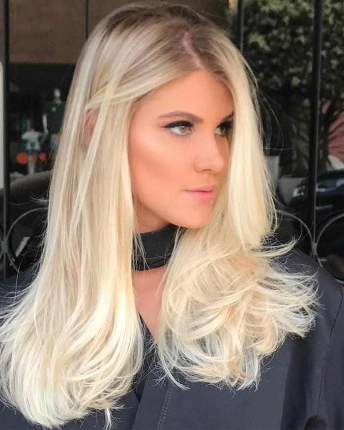 cabelos loiros 2020 lisos