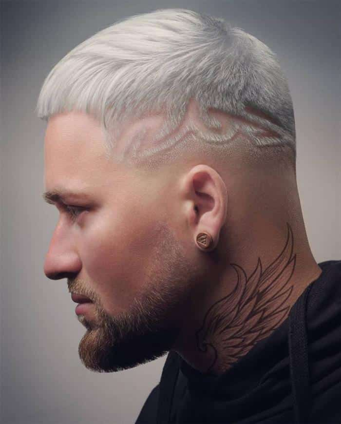 cabelos platinados masculinos