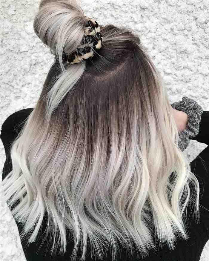 cabelos platinados 2020 lisos