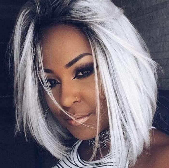 cabelos platinados 2020 curto