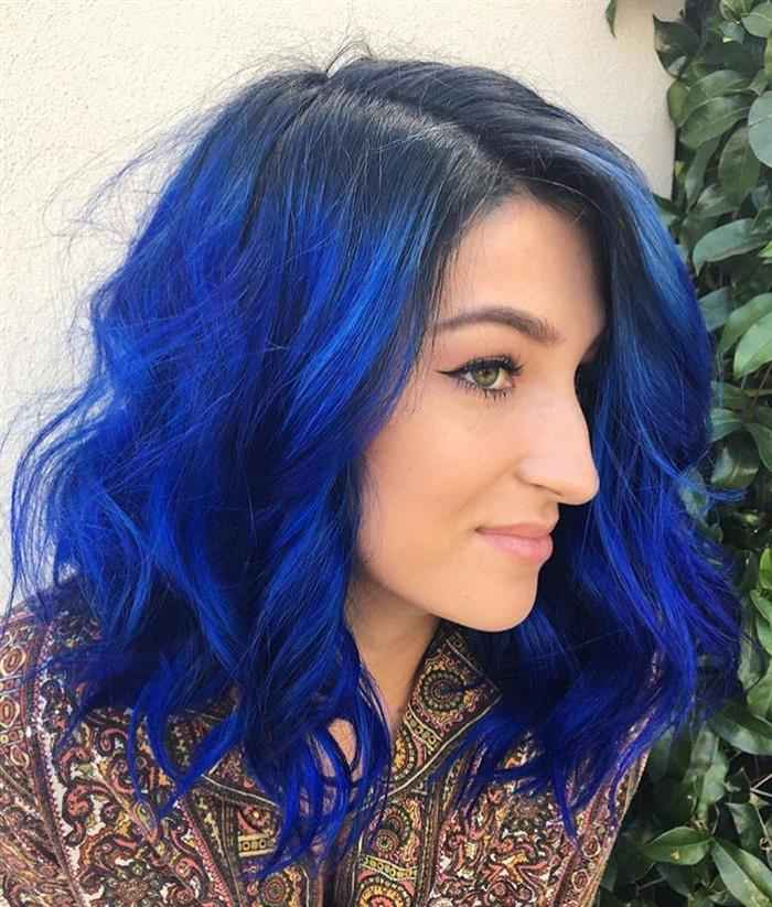 azul com violeta genciana