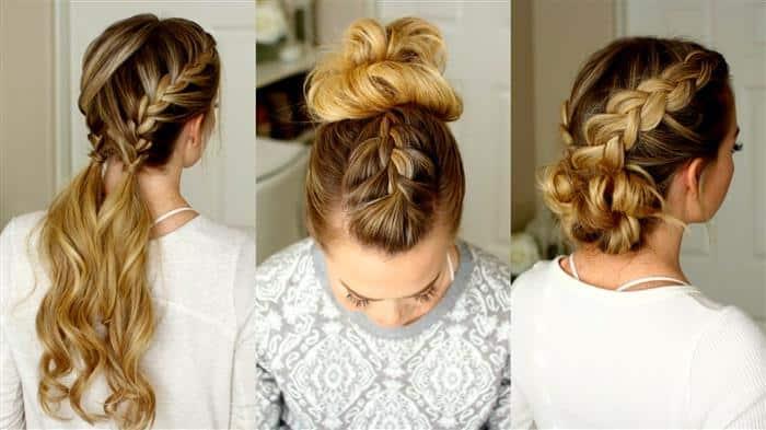 como fazer penteados com tranças