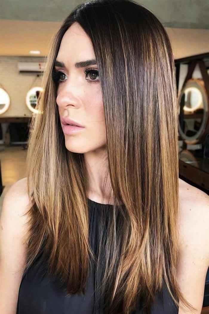 cabelo liso com luzes