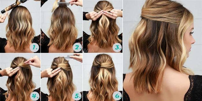 penteados simples 2020 cabelo curto