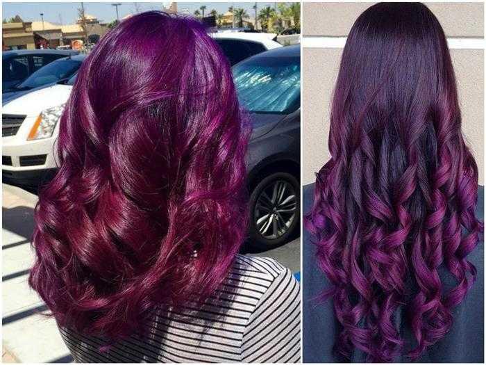 cabelos roxos em morenas