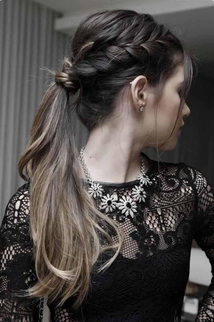 penteado simples balada