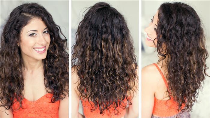 cabelo ondulado com luzes