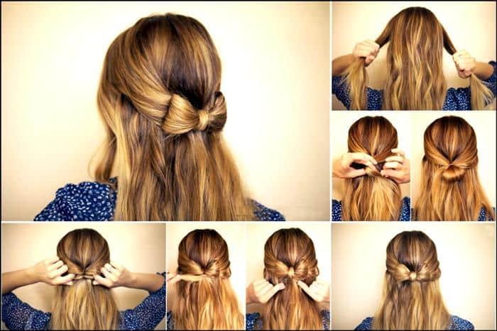penteados simples cabelo liso