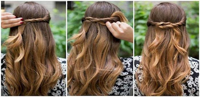 penteados simples passo a passo