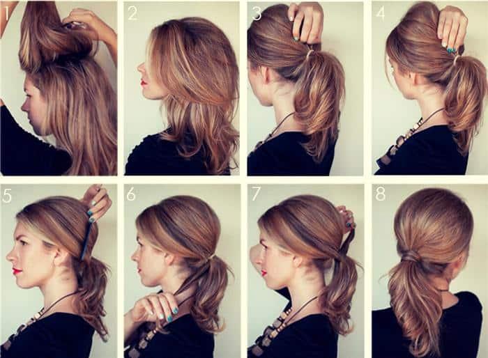 penteados simples cabelo medio