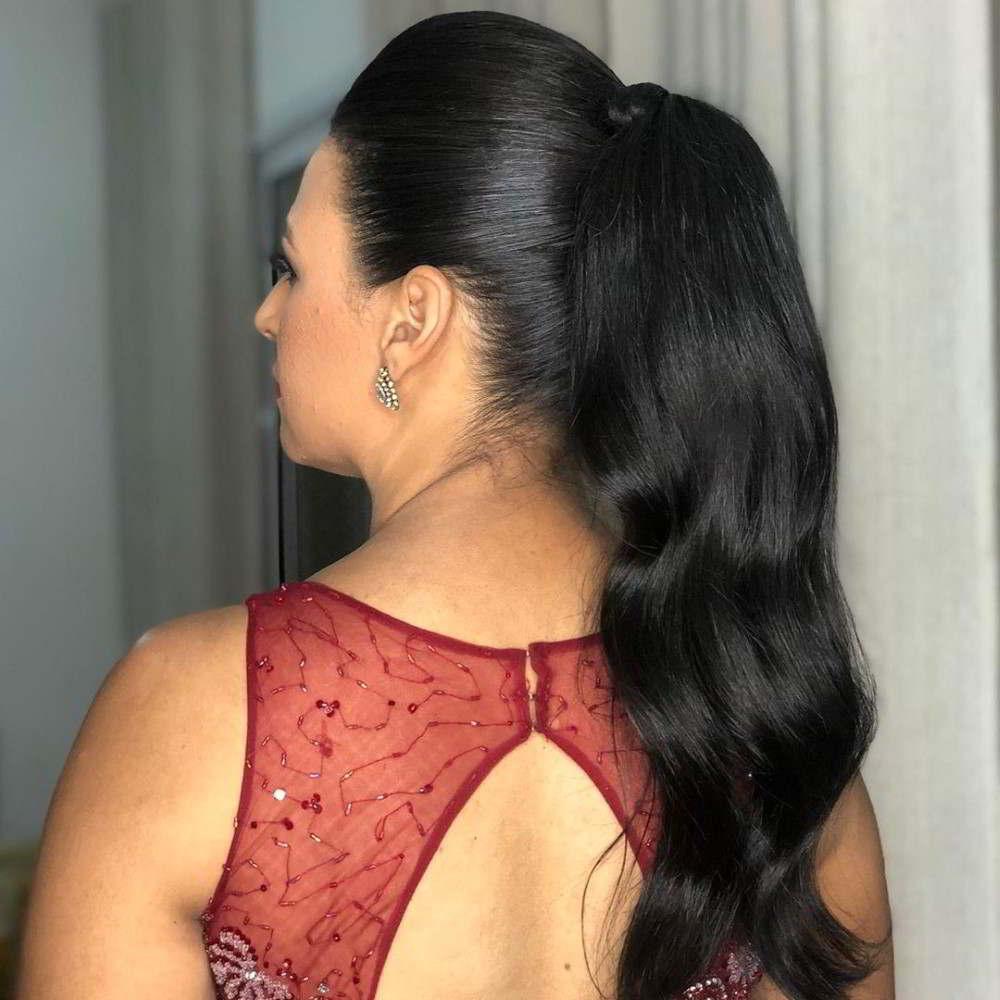 penteado cabelo preto