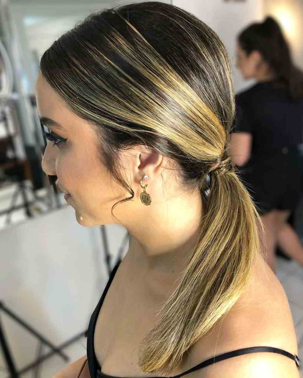 penteado cabelo com luzes