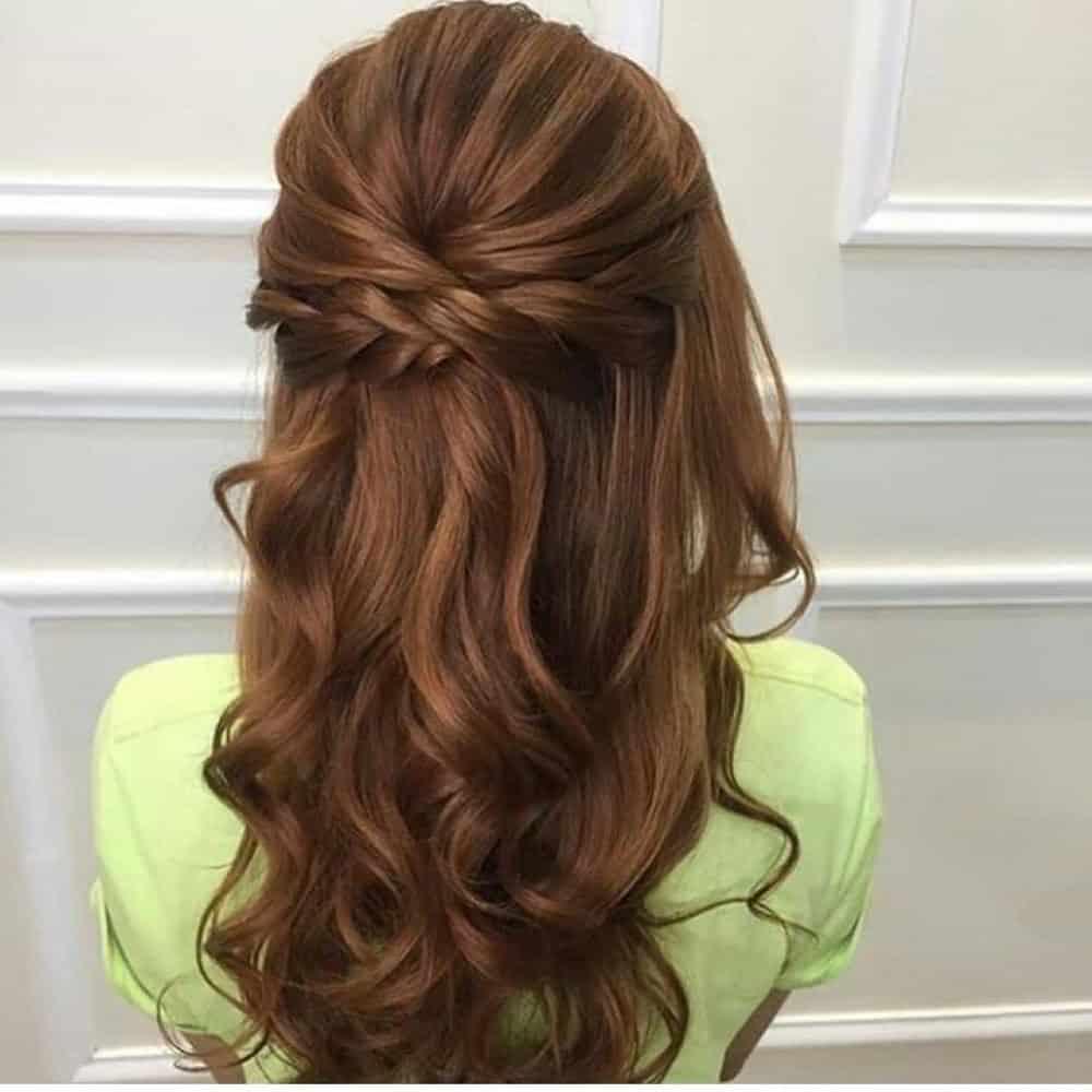 penteados semi preso