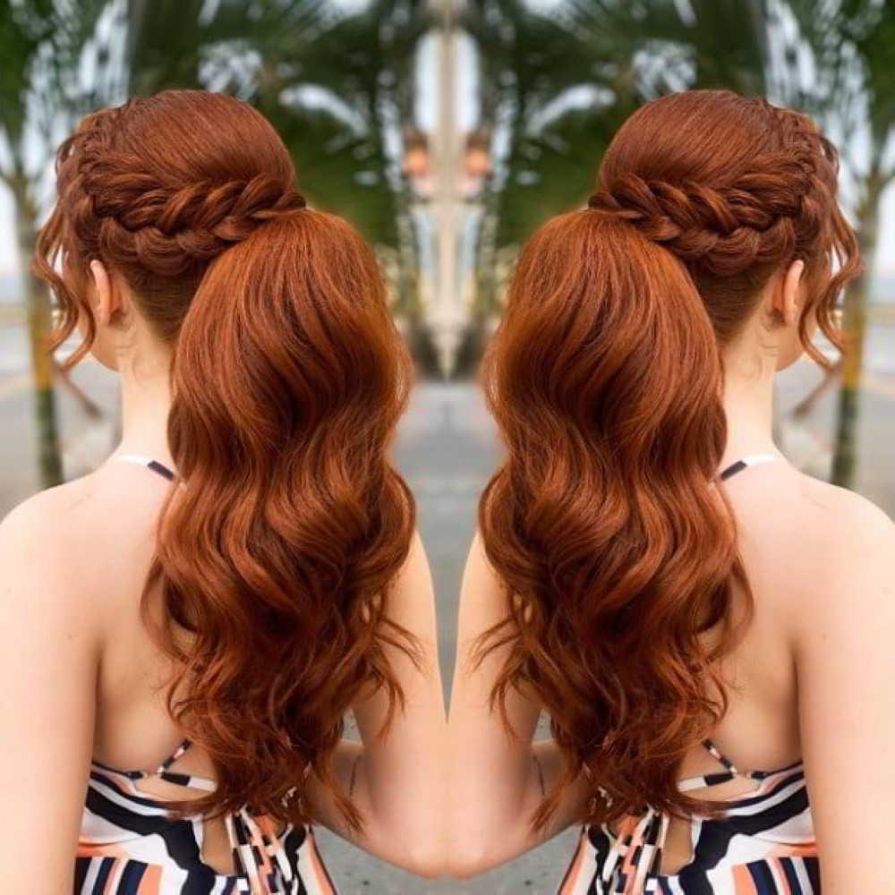 cabelo ruivo com rabo de cavalo