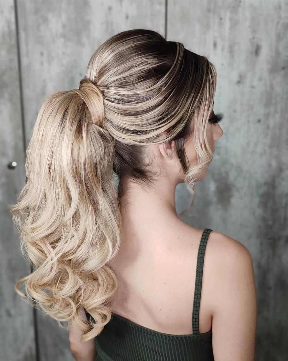 penteado com volume
