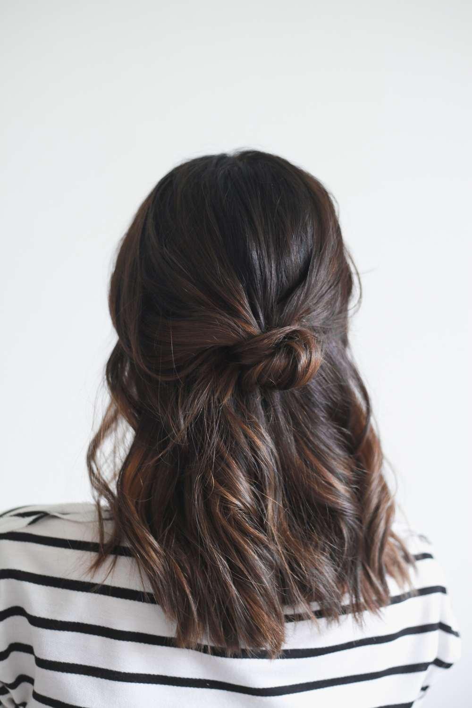 penteados faceis cabelo medio
