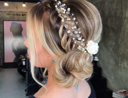 penteado romantico