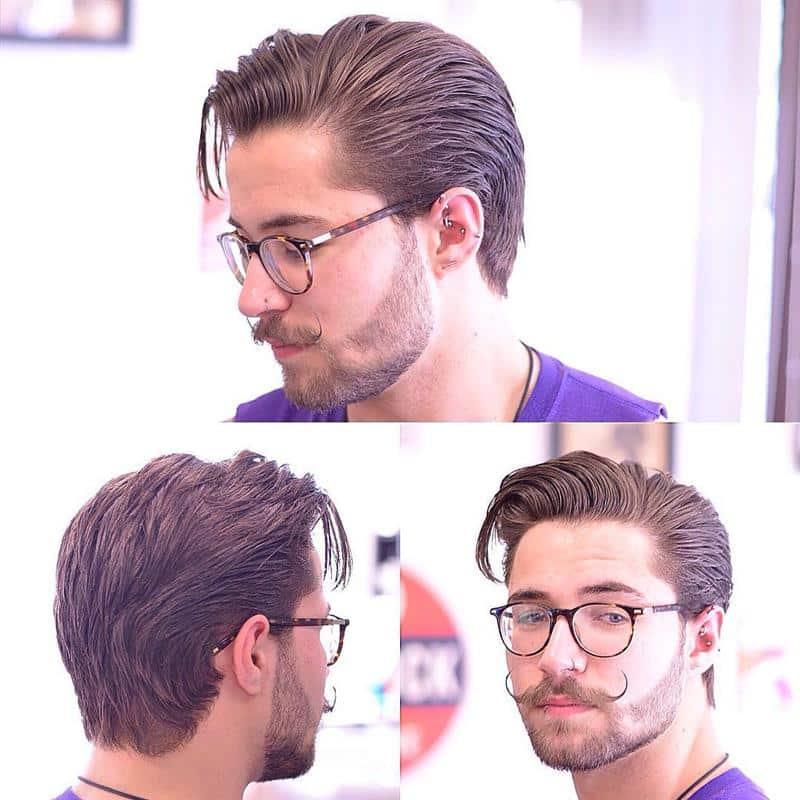 corte de cabelo masculino com franja de lado