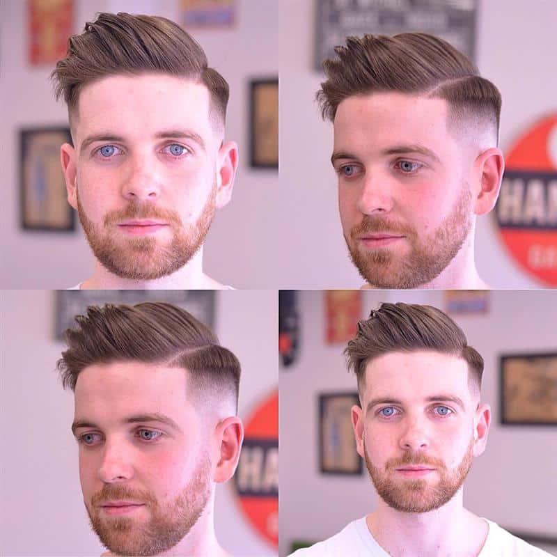 corte de cabelo masculino com barba e bigode
