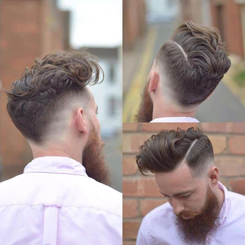 corte de cabelo masculino 2021 com barba grande