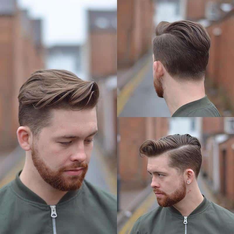 corte de cabelo masculino com topete