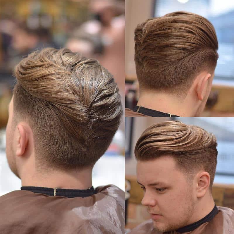 corte de cabelo masculino com volume em cima
