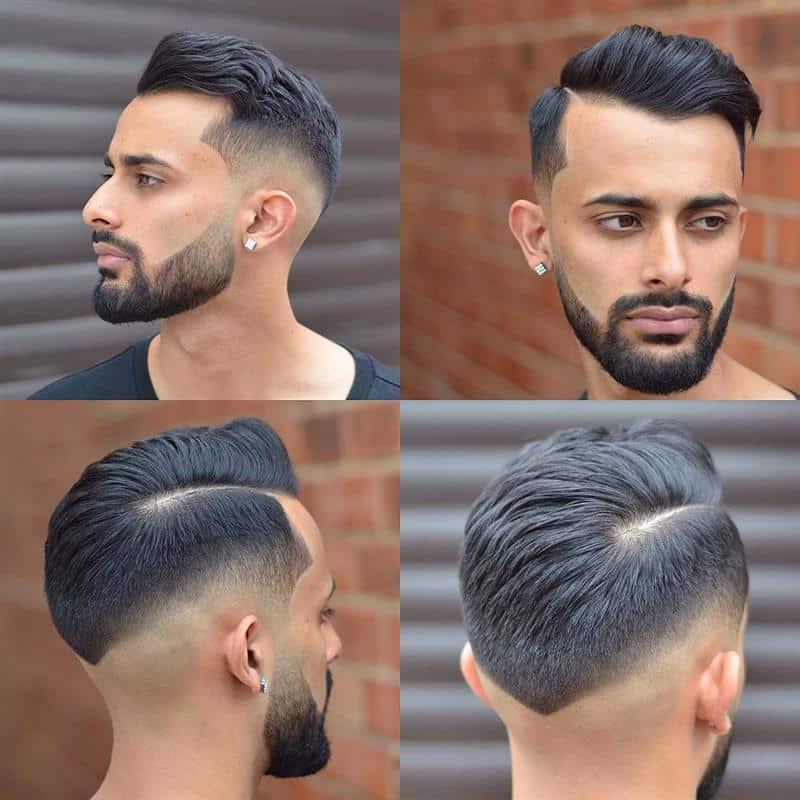 cabelo masculino em v atras