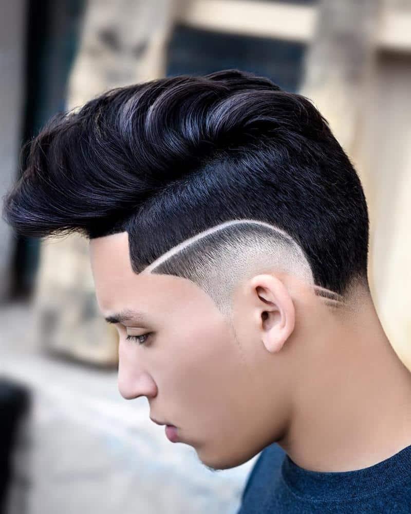 corte de cabelo masculino com listra