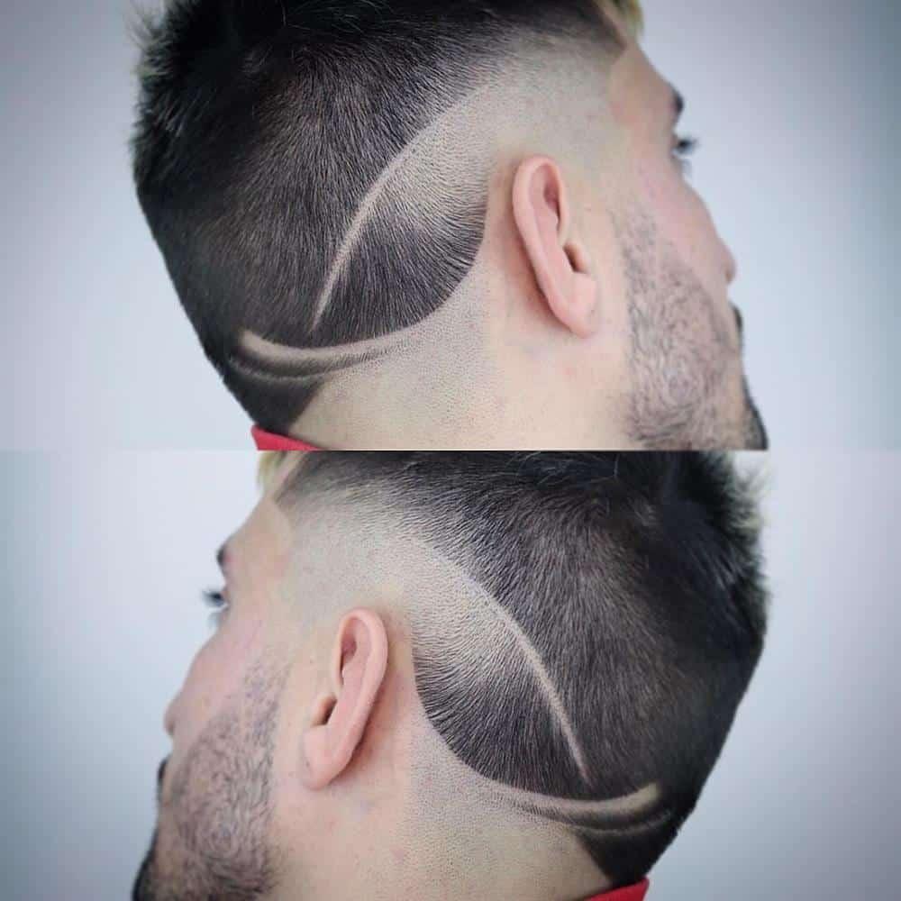 listra no cabelo masculino