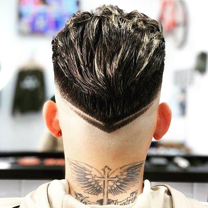 corte de cabelo com v na nuca