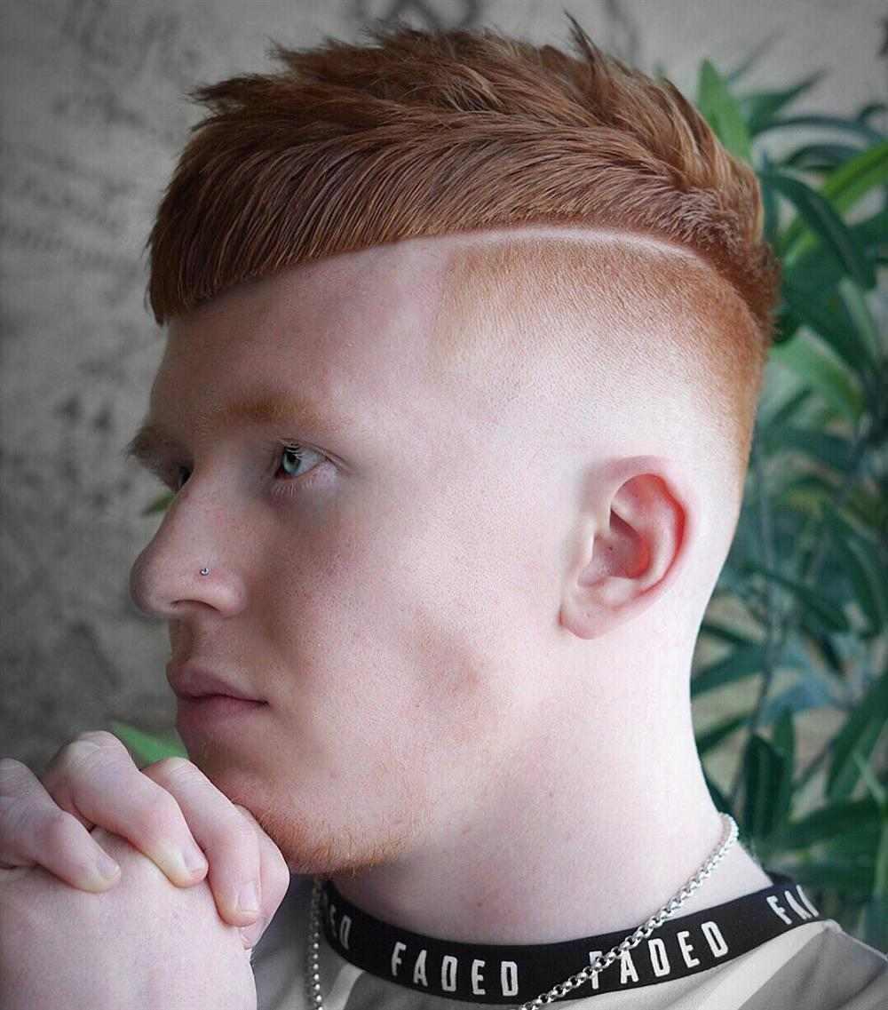 desenho de listra no cabelo