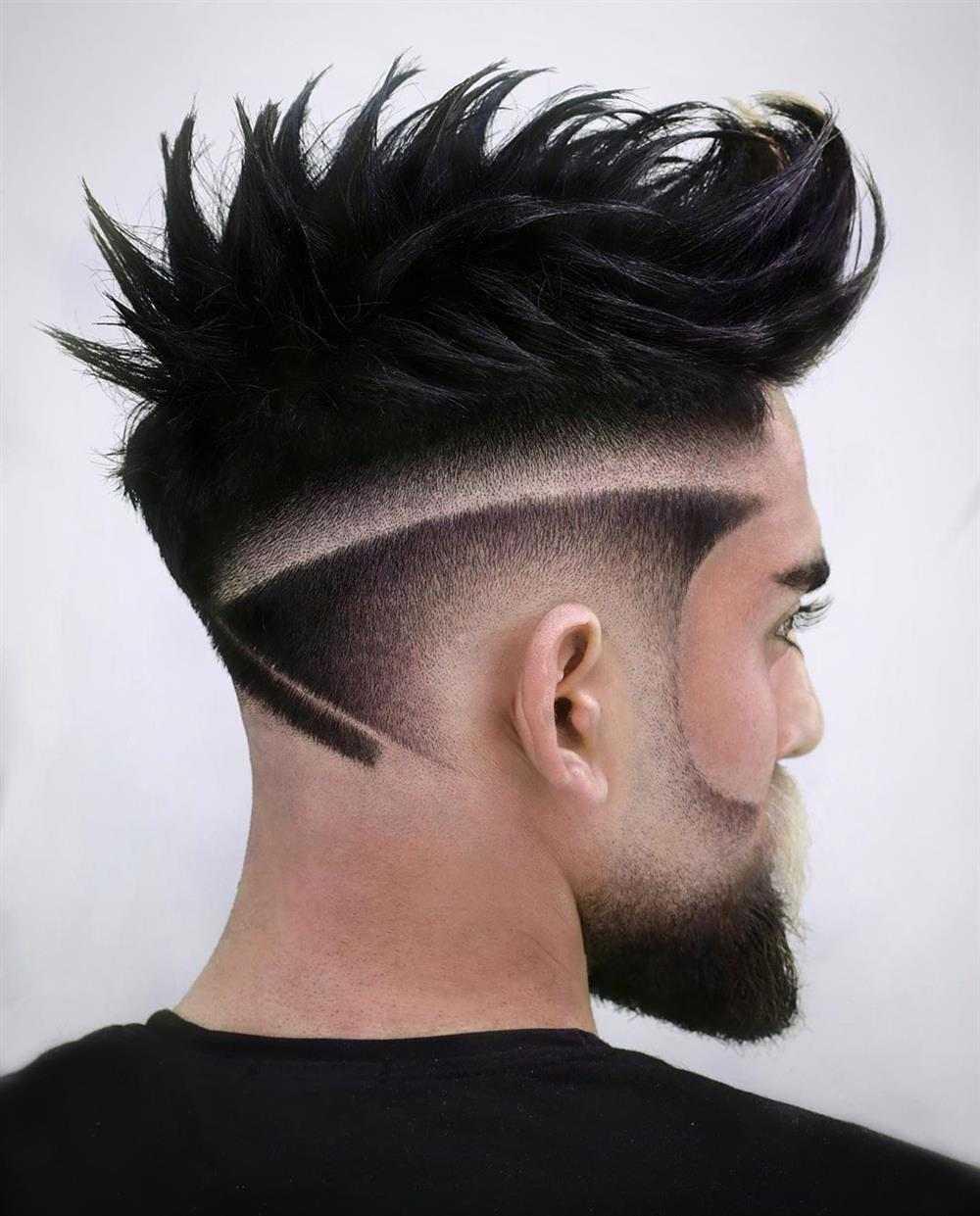 listra em cabelo masculino