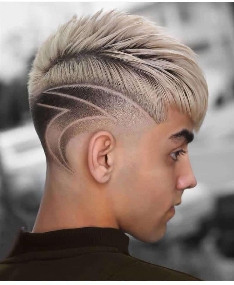 cabelo masculino com desenhos