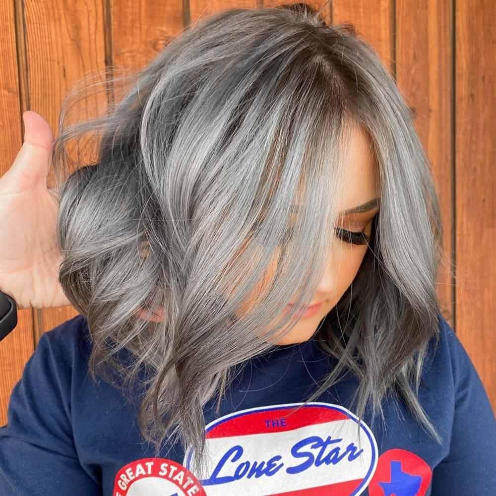cabelo cinza feminino