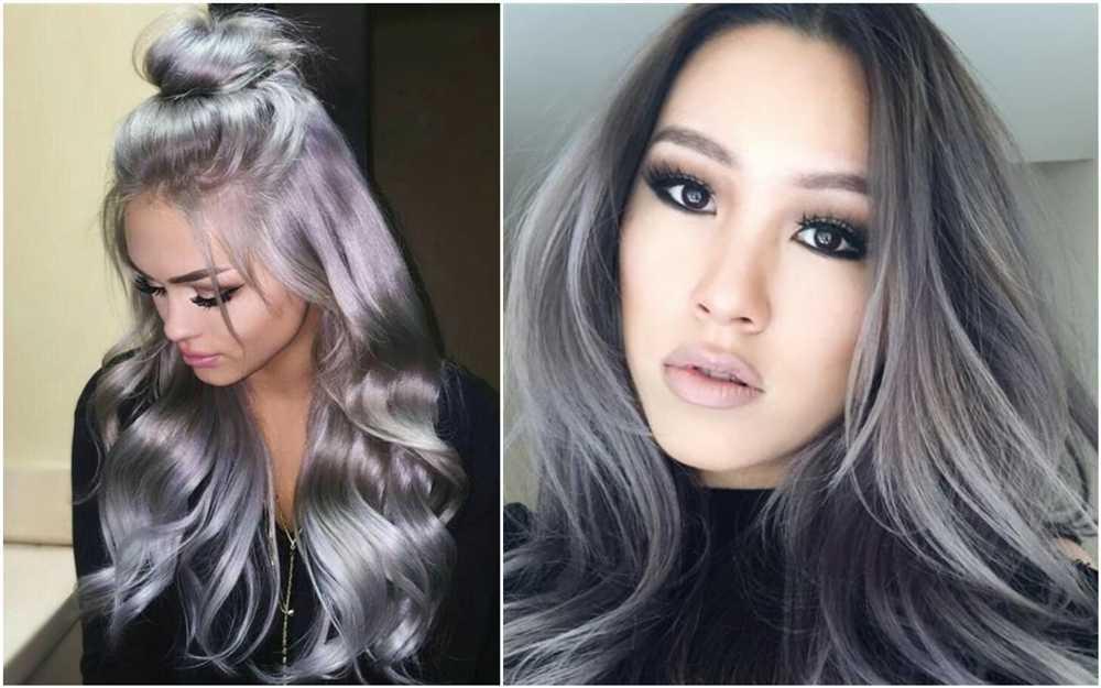 morenas com cabelo cinza